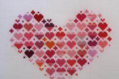 【Scrap Cross Stitch Heart】