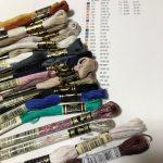 使用刺しゅう糸集合